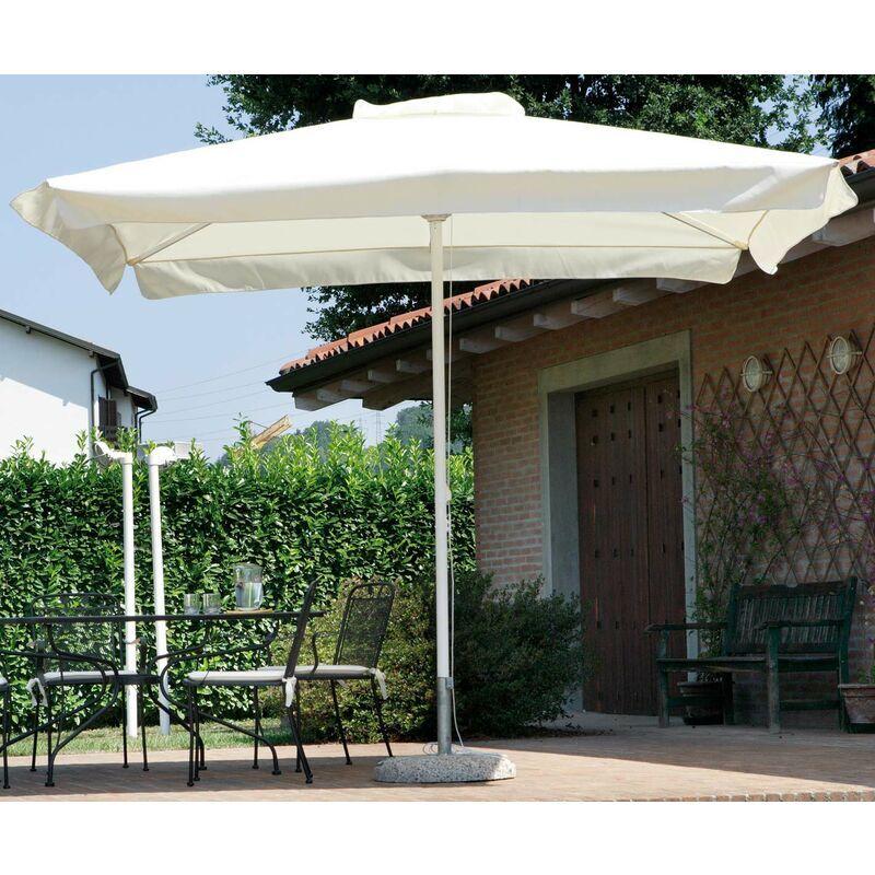 VORGHINI Ombrellone Da Giardino In Alluminio 3x3m Contract Bianco E Ecrù - Vorghini