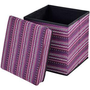 [EN.CASA] Pouf pieghevole (30 x 30 x 30 cm) box salva spazio - fodera tessuto - multicolore modello 3 - [EN.CASA]