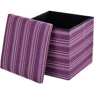 [EN.CASA] Pouf pieghevole (38 x 38 x 38 cm) box salva spazio - fodera tessuto - multicolore modello 3 - [EN.CASA]