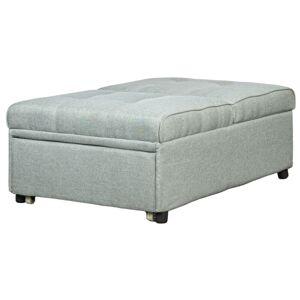 KECHAO CO. LTD pouf 3 in 1 trasformabile in poltrona sofa in tessuto colore grigio, 190x80x42 cm - KECHAO CO. LTD