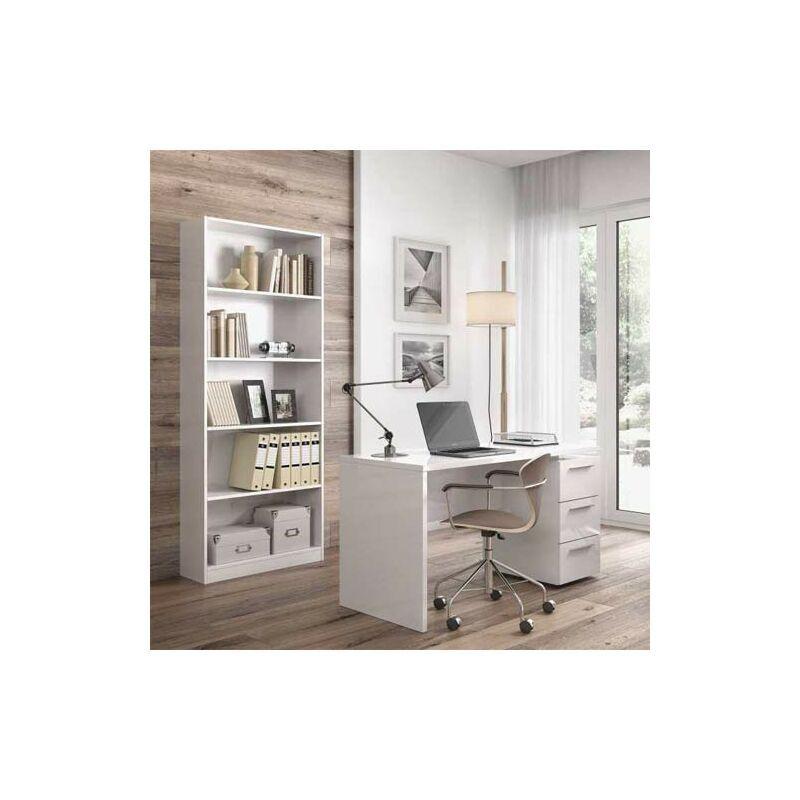 pidema scrivania ufficio bianca con tre cassetti. scrivanie porta pc per ragazzi in legno complete di cassettiera, ideale per arredare camerette e studio.