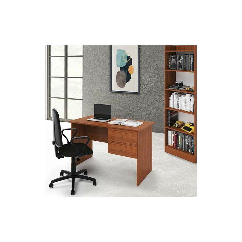 pidema scrivania ufficio noce antico con due cassetti. scrivanie porta pc per ragazzi in legno, ideale per arredare camerette e studio. - pidema