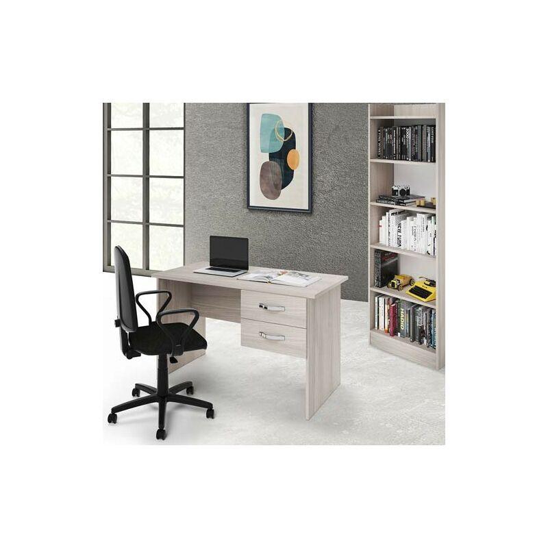 pidema scrivania ufficio olmo con due cassetti. scrivanie porta pc per ragazzi in legno, ideale per arredare camerette e studio. - pidema