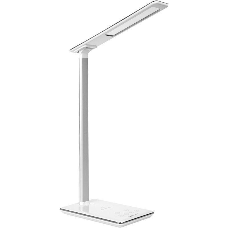 Phoenix - Phoenixphoenix lampada flexo con ricarica mobile senza fili - livelli di luce - timer - porta usb - controllo touch bianco