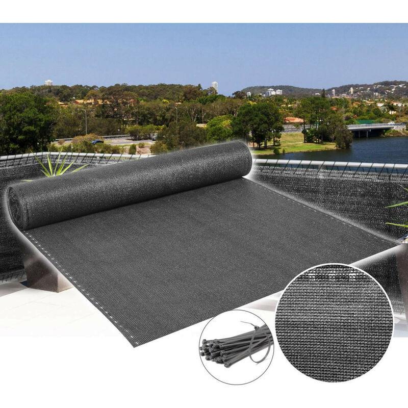 Nova Rete Ombreggiante Telo Frangivista per Giardino Balcone Antracite Vari Modelli dimensioni: 1-5x20m