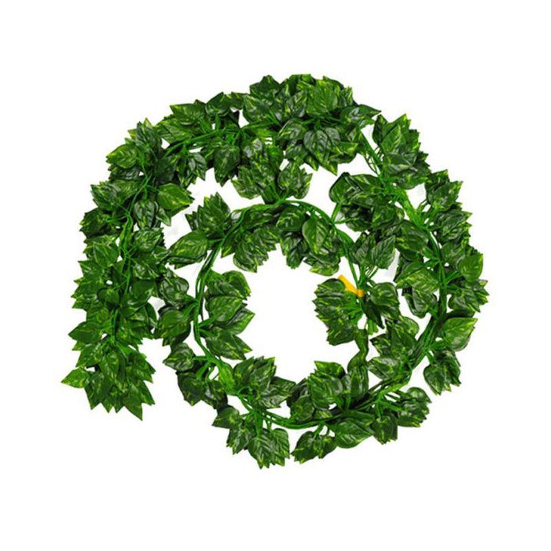 asiashopping 10 foglie pianta rampicante artificiale foglia punta edera ghirlanda 240 cm - asiashopping