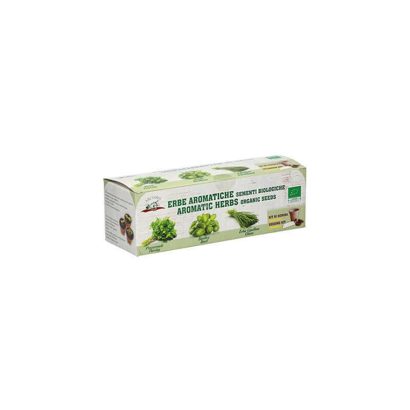 arcoiris semi erbe aromatiche biologici basilico prezzemolo erba cipollina in kit ueber - arcoiris