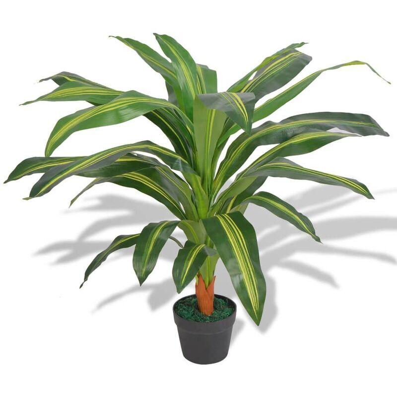 vidaxl dracena pianta artificiale con vaso 90 cm verde - multicolore - vidaxl