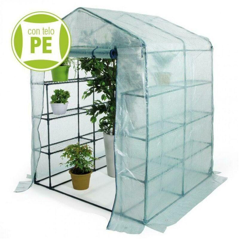 verdelook serra struttura a casetta 6 ripiani 140x140x195 cm con porta - verdelook