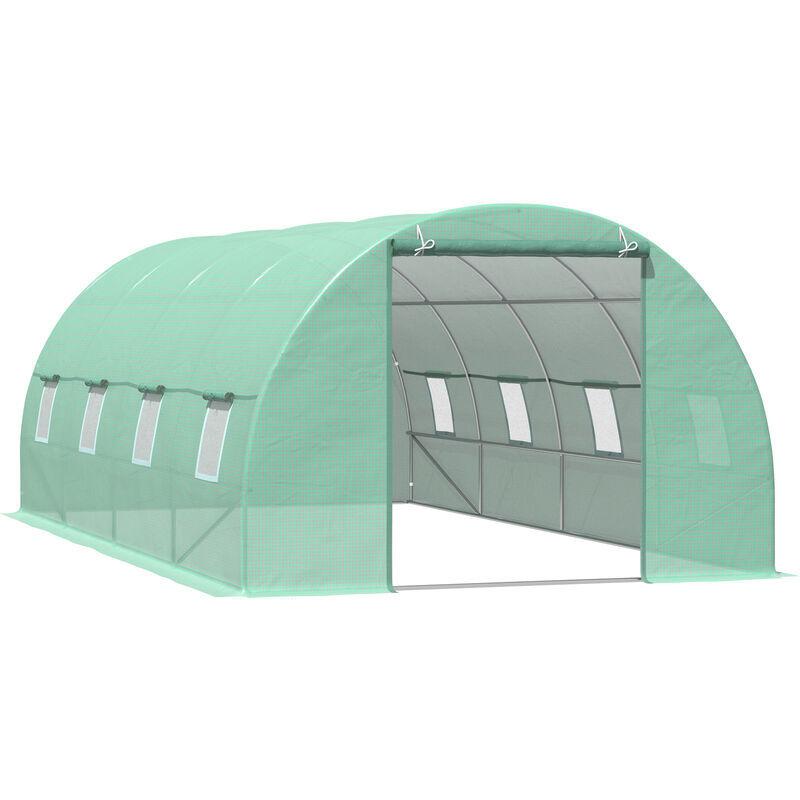 miozzi serra da giardino a tunnel per piante verde 6x3x2m - miozzi