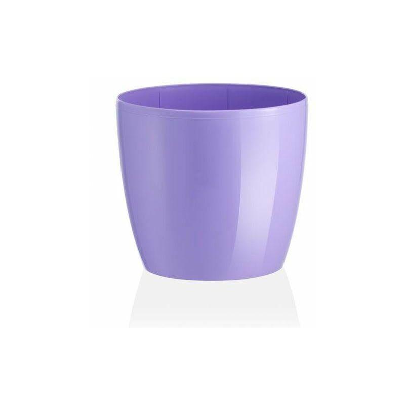 teraplast vaso tondo madeira luxy colour in resina colorati da esterno e giardino fiori piante -diam 22 x h 19.8 cm / lilyum - teraplast