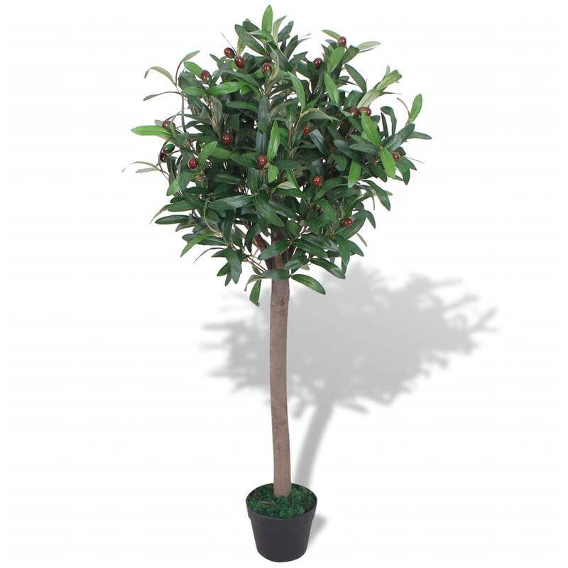 vidaxl albero di alloro pianta artificiale con vaso 120 cm verde - multicolore - vidaxl