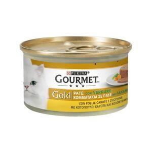 Gourmet Gold Paté per Gatto da 85 gr   Pollo Carote e Zucchine