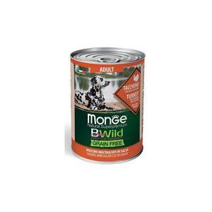 MONGE BWILD Monge Natural Superpremium BWild Grain Free per Cani Adult da 400 gr   Tacchino, Zucca e Zucchine - MONGE BWILD