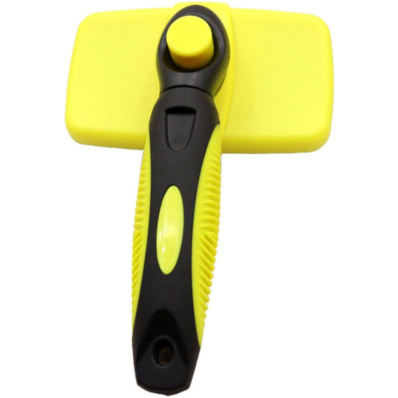 asupermall professional cleaning auto spazzola lisciante per animali c-at dog grooming strumento governare pettine (giallo) - asupermall