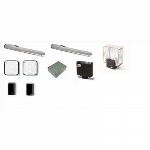 Nice - Kit bidirezionale per cancelli a battente con ante fino a 3,5 m, montaggio esterno Codice : WINGO5BDKCE