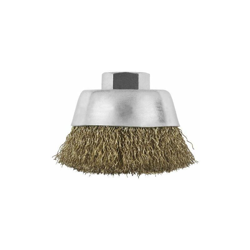bosch home and garden - bosch 2609256500 - spazzola a tazza per smerigliatrice, m14, 70 mm