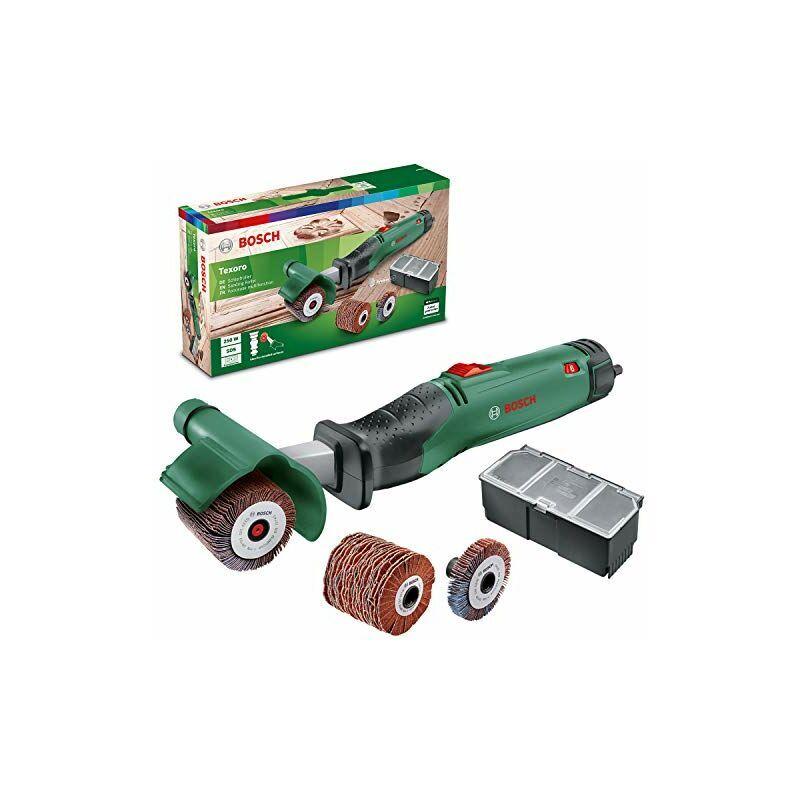 bosch home and garden - bosch texoro levigatrice a rullo abrasivo (250 w, 3 accessori, scatola accessori, in confezione di cartone)
