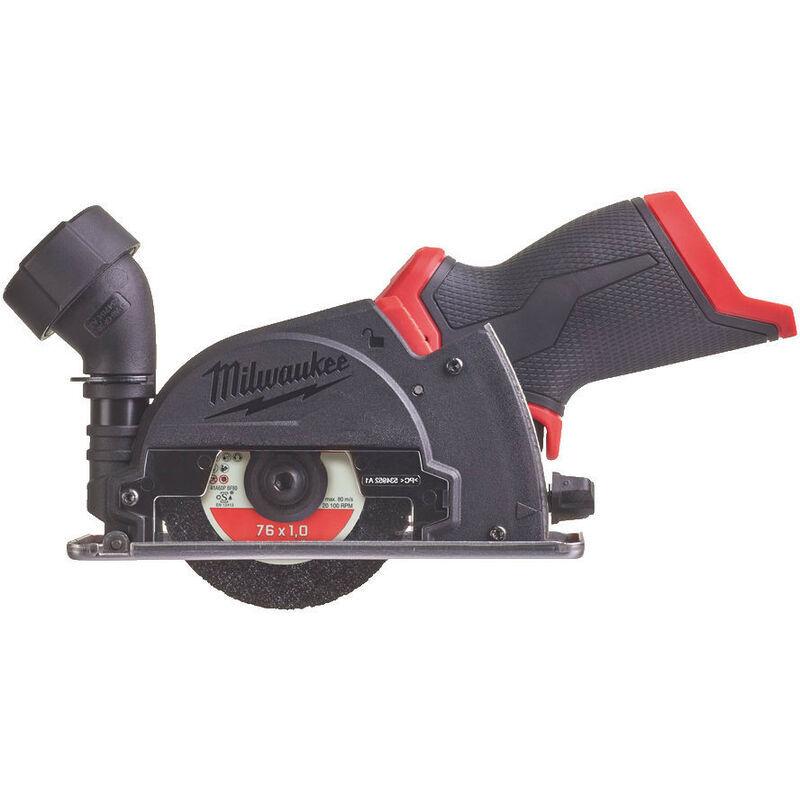 milwaukee - m12 fcot-0 - utensile smerigliatrice da taglio multi-materiale sub compatto con disco 76mm m12 fuel - senza batteria