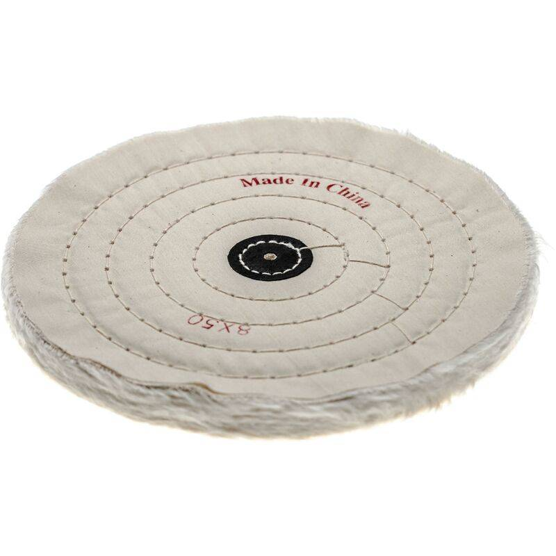 vhbw disco lucidante per comuni smerigliatrici, trapani - Pad di ricambio, diametro 19,8 cm, color crema, cotone
