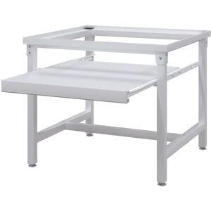 VIDAXL Supporto Alzatina Lavatrice con Mensola Estraibile Bianco - Bianco - Vidaxl