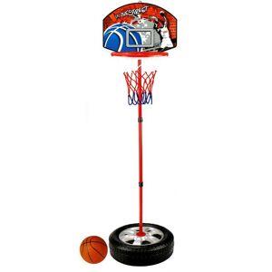 LGV Canestro Basket Per Bambini Con Base Tonda Altezza Regolabile 93-120 Cm
