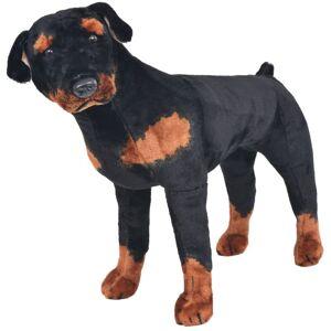 VIDAXL Rottweiler di Peluche Giocattolo Nero e Marrone XXL - Nero