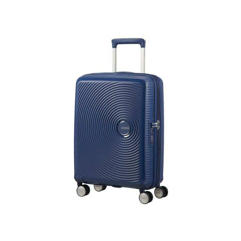 American Tourister Soundbox Spinner S Espandibile Bagaglio a Mano 55cm 41 Litri Blu Midnight Navy -