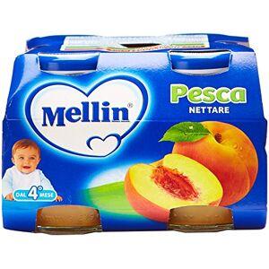 Mellin - Nettare Pesca - 12 confezioni da 4 pezzi da 125 ml [48 pezzi, 6 l]