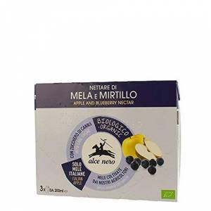 Alce Nero 4 PEZZI DA ML200X3 NETTARE IN BRIK BIO ALCE NERO - ALBICOCCA - PERA- MIRTILLO - MELA - POSSIBILITA' ORDINE MISTO (MIRTILLO)
