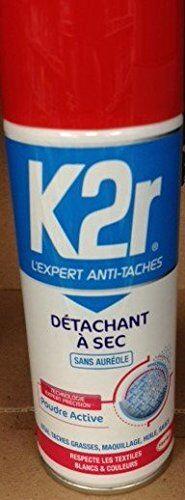 aerosol secco k2rdétachant tutti textiles200 ml