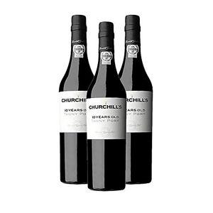churchills Vino di Oporto Churchills 10 Anos 500ml - Vino Liquoroso - 3 Bottiglie