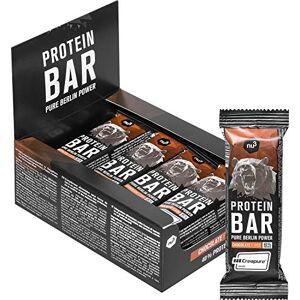 nu3 Barrette proteiche gusto Cioccolato - 12 x 50 gr - Snack proteico 40% Proteine con creatina monoidrato creapure - Solo 0,8g di zucchero per barretta - Da latte e proteine del siero del latte