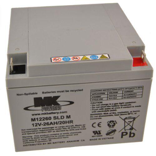 mk es26-1212v 26ah mk piombo acido agm mobility scooter batteria