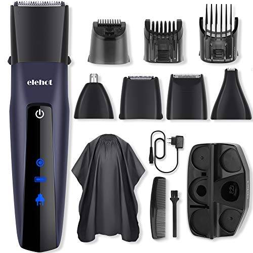 elehot regolabarba uomo tagliacapelli professionale barba e capelli precisione regolabarba barba capelli e corpo naso 5 in 1 elehot