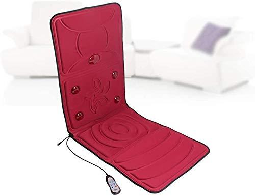 bh shiatsu - sedia massaggiante con rullo per impastare il tessuto profondo, cuscino vibrante, livello del collo regolabile, rilassa la spalla e la schiena muscoli del collo, b