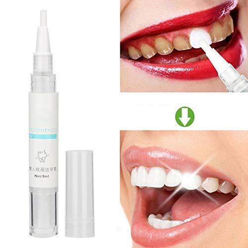 qinlorgon penna sbiancante denti, dentifricio sbiancante penna sbiancante denti rimuovere macchie di placca pulizia dentale strumenti sbiancanti