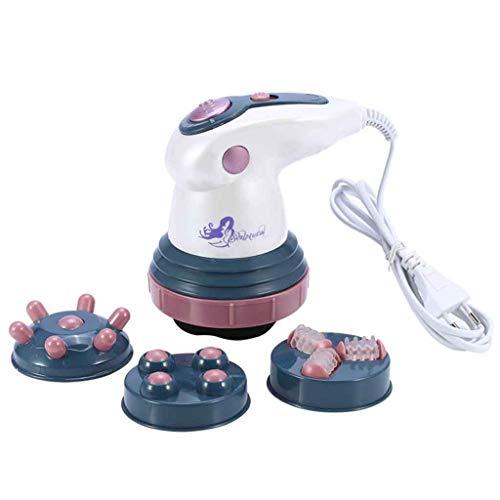massagehf massaggiatore anticellulite elettrico a infrarossi shaper dimagrante portatile massaggio con 4 teste vibranti per relax da stress e curare il dolore ai-110v-viola