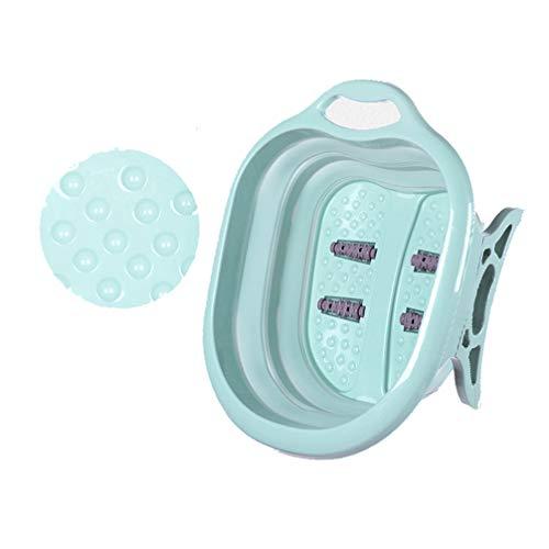 suying pediluvio, idromassaggio e massaggio ai piedi, robusto bacino in plastica per piedi da bagno con 4 sfere da massaggio