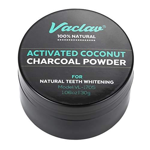 dailymall dentifricio sbiancante denti in polvere di carbone attivo naturale 30g