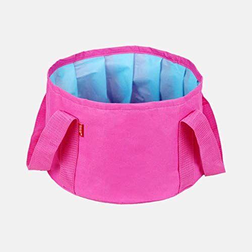 yuandan borsa da viaggio pieghevole da campeggio pieghevole lavello lavello secchio scodella lavello borsa per il lavaggio portatile esterna secchiello per acqua vasca per i piedi vasca idromassaggio, rosa