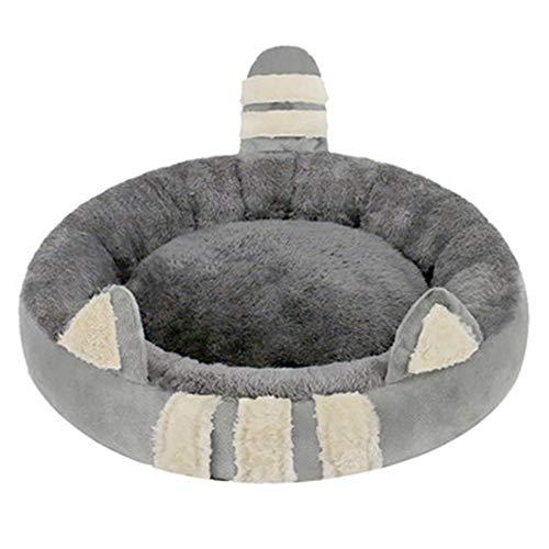 ddzhe letto per animali nido di gatto cuccia orecchie di gatto carine pi letto di gatto in velluto semi-chiuso rimovibile lavabile caldo in inverno quattro stagioni universale