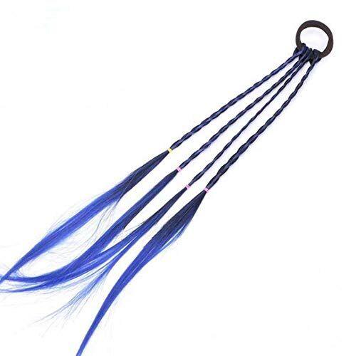 gancunsh fascia elastica per capelli in gomma, accessori per capelli, per coda di cavallo, per bambini, colore blu