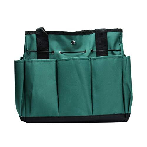 TOPBATHY 1PCS borsa da giardino borsa da giardinaggio portatile tote custodia oxford sacchetto (verde scuro)