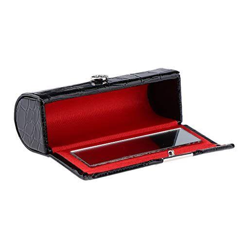 homyl porta trucchi, custodia porta per rossetto pennelli da trucco organizzatore cosmetici make up - nero