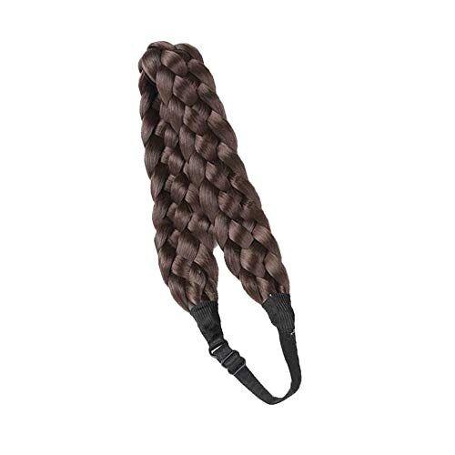 Whale city Fascia per capelli alla moda flessibile, fasce per capelli intrecciate bohemien a cinque fili, parrucca intrecciata, lisca di pesce spessa, accessori moda per capelli da donna chic (#1)