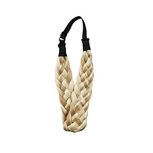 jiutinggood Fascia per capelli intrecciata a coda di pesce, facile da indossare, regolabile, accessorio alla moda, regalo chic
