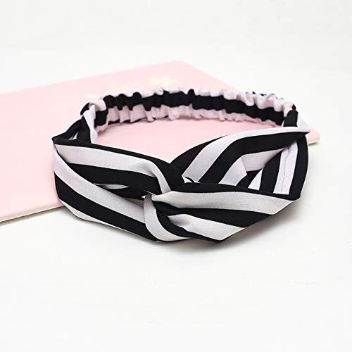 ZYABCDG Copricapo, accessori dei capelli per le ragazze di moda in tessuto headwrap Balestra annodato fascia per capelli fiore chiffon signore del cerchio,35