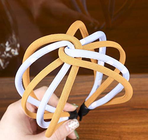 sufengshop Accessori moda per capelli Accessori per capelli per ragazze con fascia per capelli a forma di nodo con nodo cavo per torsione