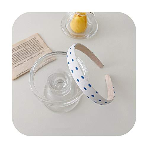 hairband Moda Accessori Per Capelli Donne Retr Floreale Checked Cerchietto Ragazza Selvaggia Tesa Sottile Fascia di Lavaggio Fascia per Capelli Headwear-6-